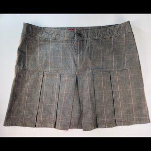 Pelle Pelle Skirts - Pelle Pelle Pleated Skirt Sz 16 Plaid Brown Pink